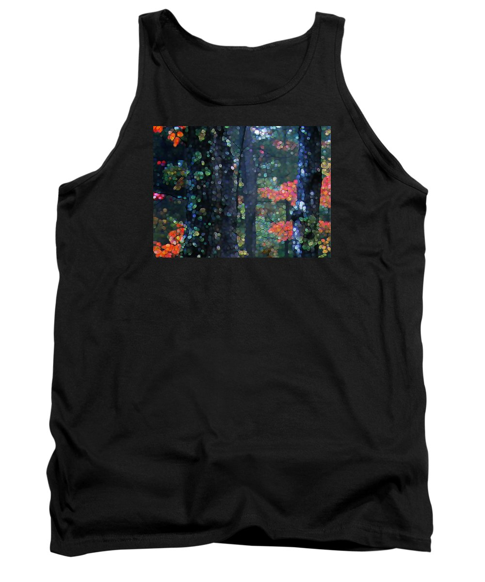 Landscape Tank Top featuring the digital art Deep Woods Mystery by Dave Martsolf