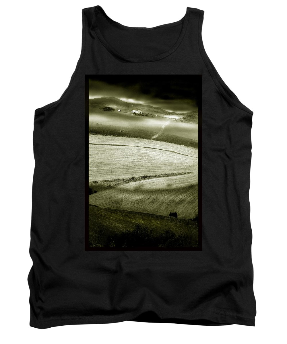 Landscape Tank Top featuring the photograph Deepening Shadows by Mal Bray