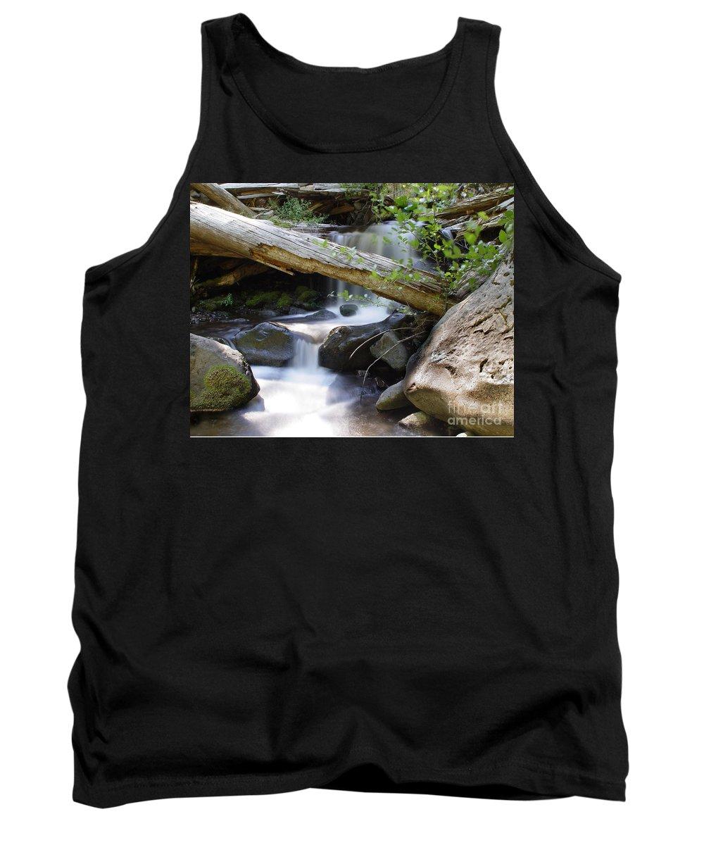 Creek Tank Top featuring the photograph Deer Creek 03 by Peter Piatt