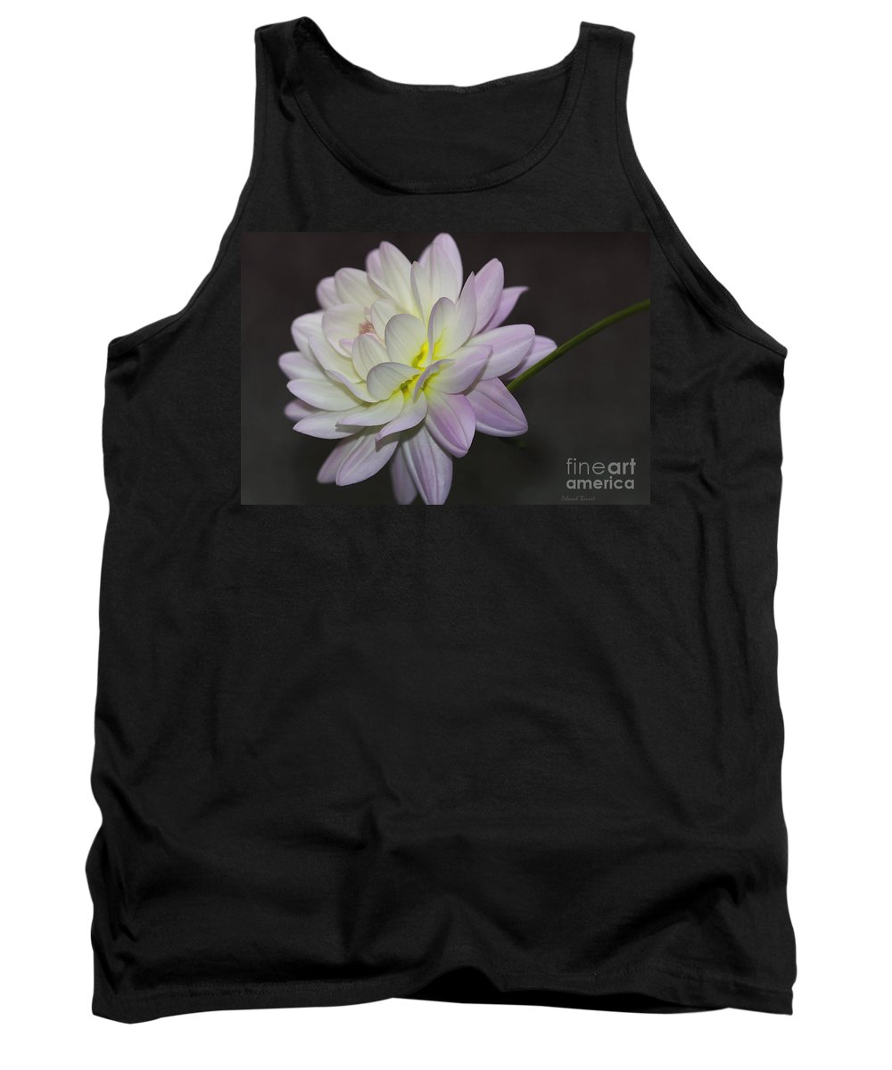 Flower Tank Top featuring the photograph Delicate Dahlia Balance by Deborah Benoit