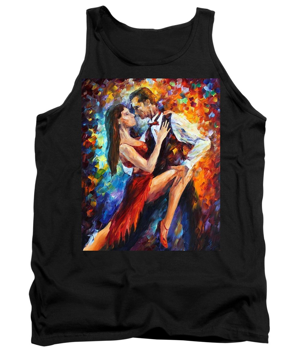Afremov Tank Top featuring the painting Delightful Tango by Leonid Afremov