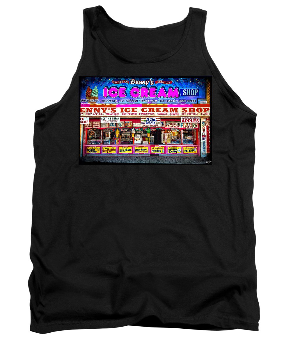Ice Cream Tank Top featuring the photograph Dennys Ice Cream Shop by Chris Lord