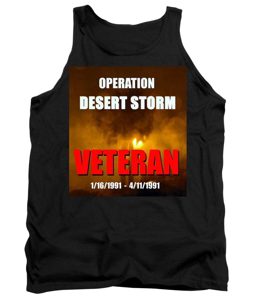 Operation Desert Storm Tank Top featuring the photograph Desert Storm Vet Phone Case Work by David Lee Thompson