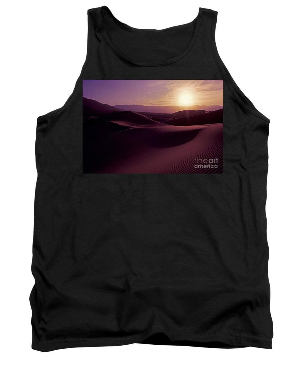 Desert Tank Top featuring the photograph Desert Sunset by Paul W Faust - Impressions of Light