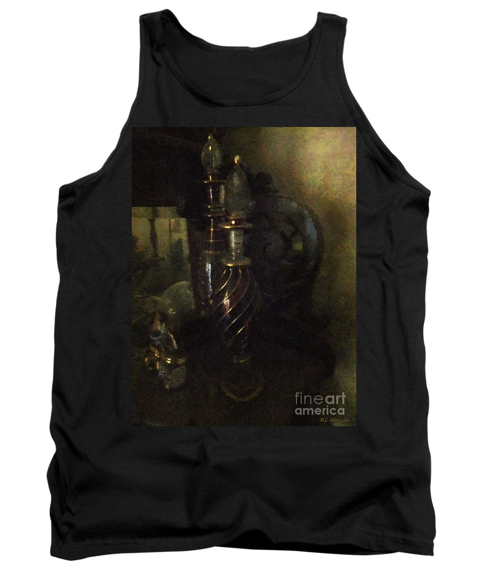 Antiquated Tank Top featuring the painting Detail - Miss Havisham's Parlor by RC DeWinter