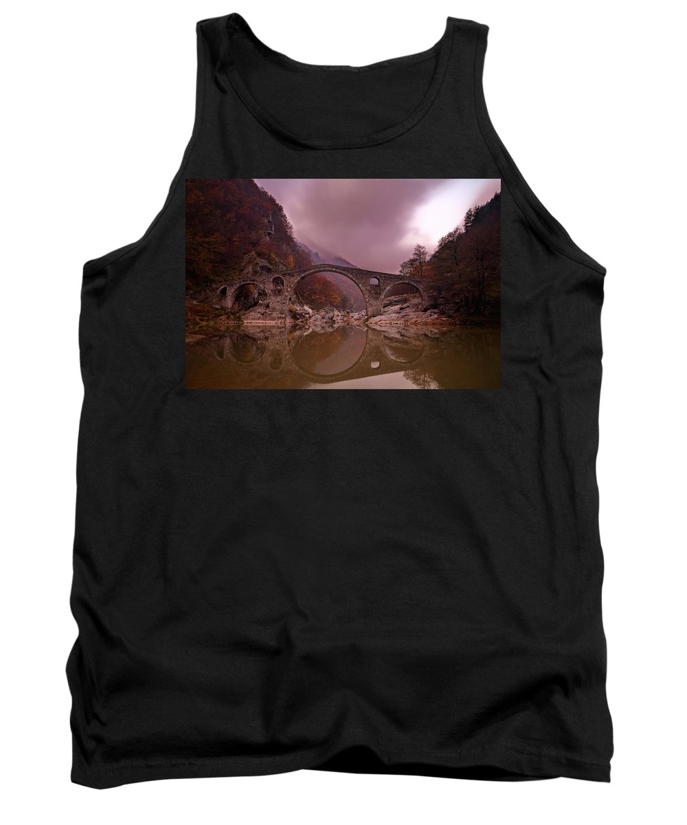Bridge Tank Top featuring the photograph Devil's Bridge by Evgeni Dinev