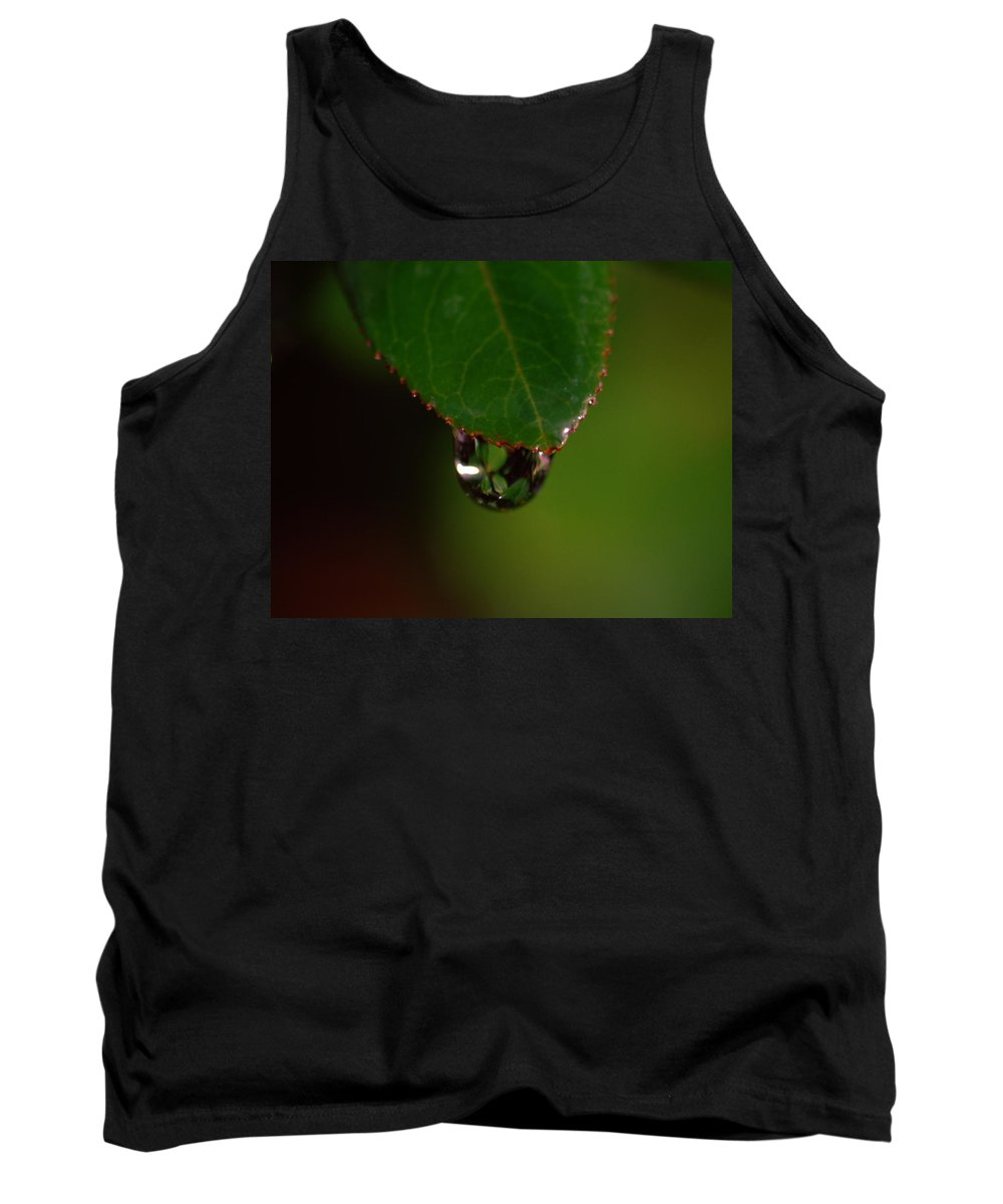 Plant Tank Top featuring the photograph Dew Drop In by Donna Blackhall