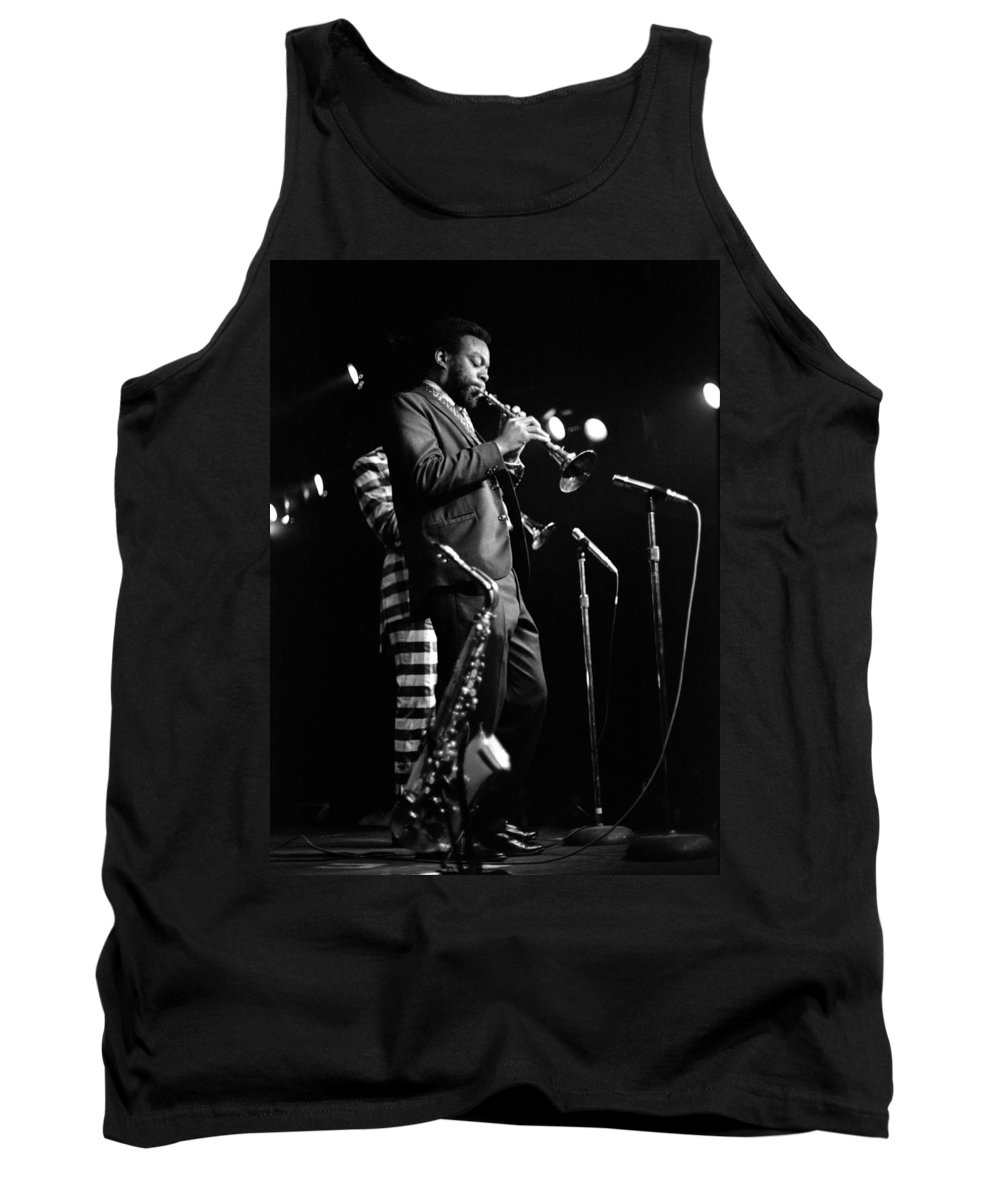 Ornette Coleman Tank Top featuring the photograph Dewey Redman On Musette by Lee Santa