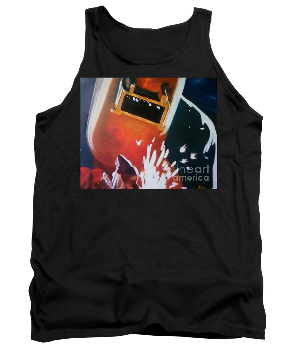 Welder Paintings Tank Top featuring the painting Dida by Annalise Kucan