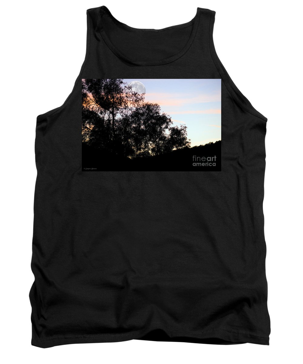 Clay Tank Top featuring the photograph Distant Moon by Clayton Bruster