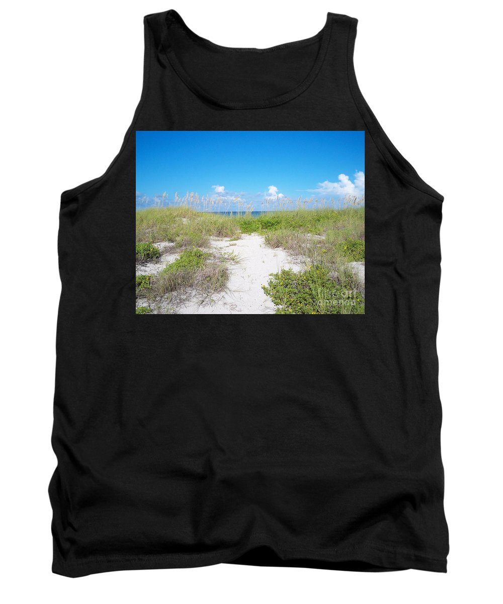 Florida Tank Top featuring the photograph Distant Sea by Chris Andruskiewicz