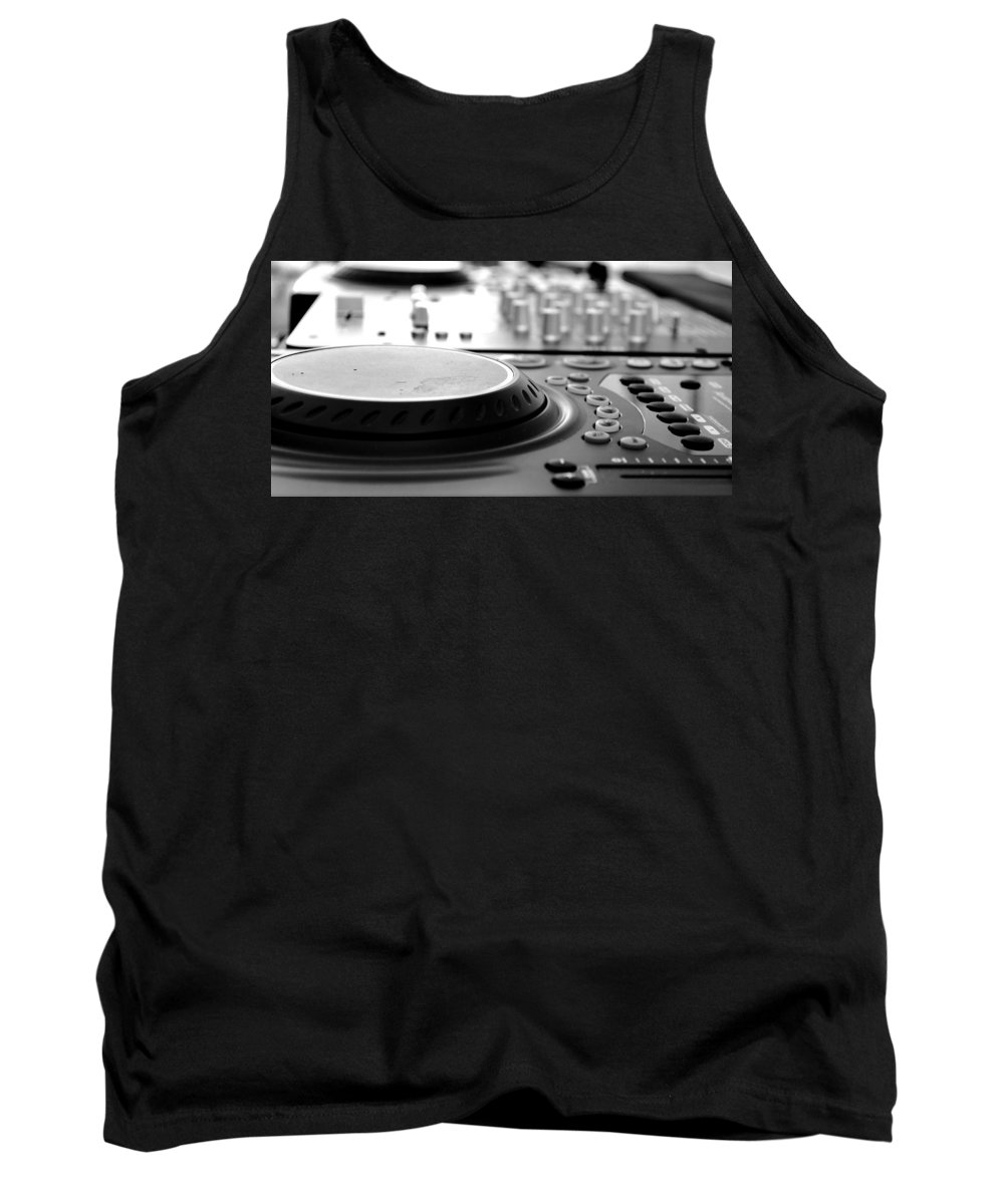 Dj Tank Top featuring the photograph Dj Life by Aldair Sanchez