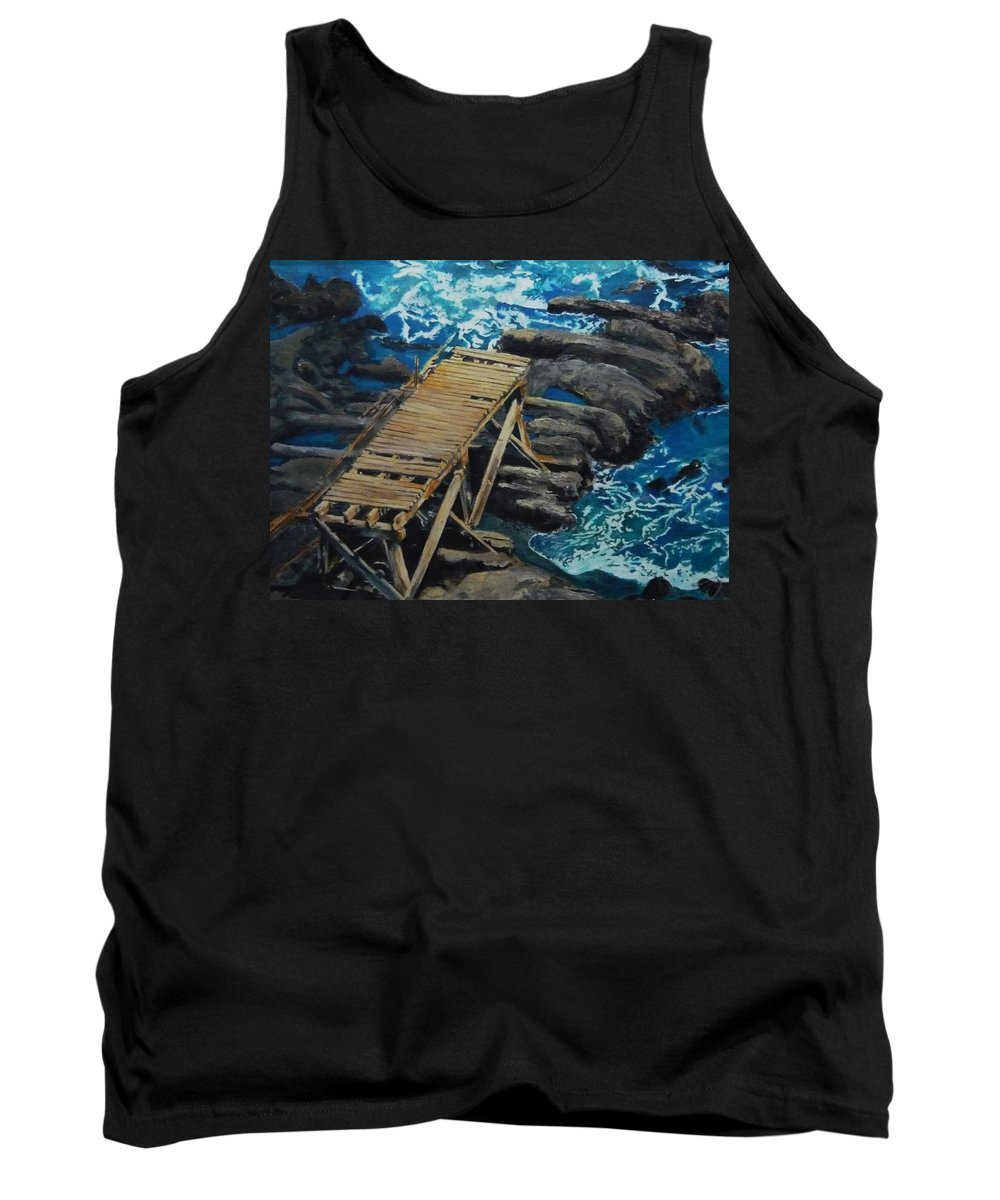 Dock Tank Top featuring the painting Dock by Travis Day