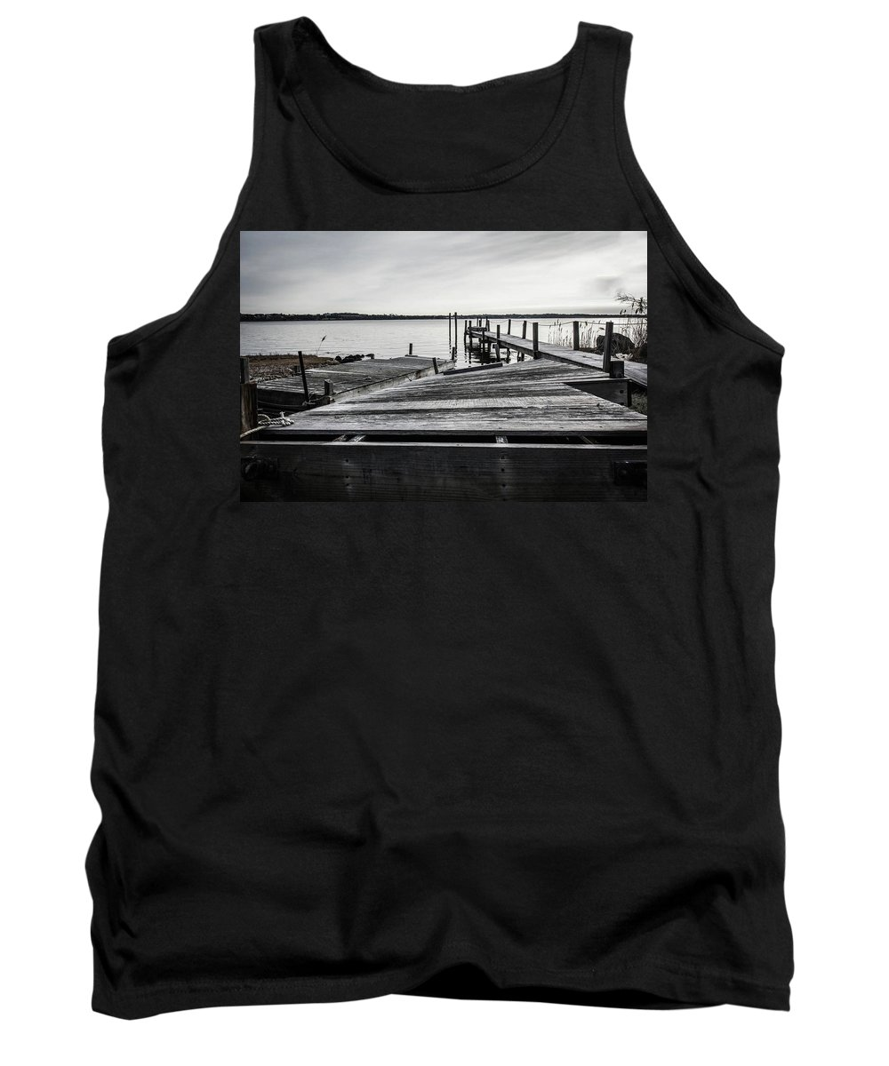 Dock Tank Top featuring the photograph Dockside by Mark Majndle