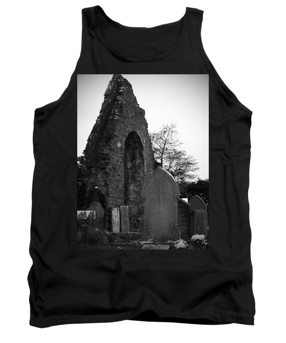 Irish Tank Top featuring the photograph Donegal Abbey Ruins Donegal Ireland by Teresa Mucha