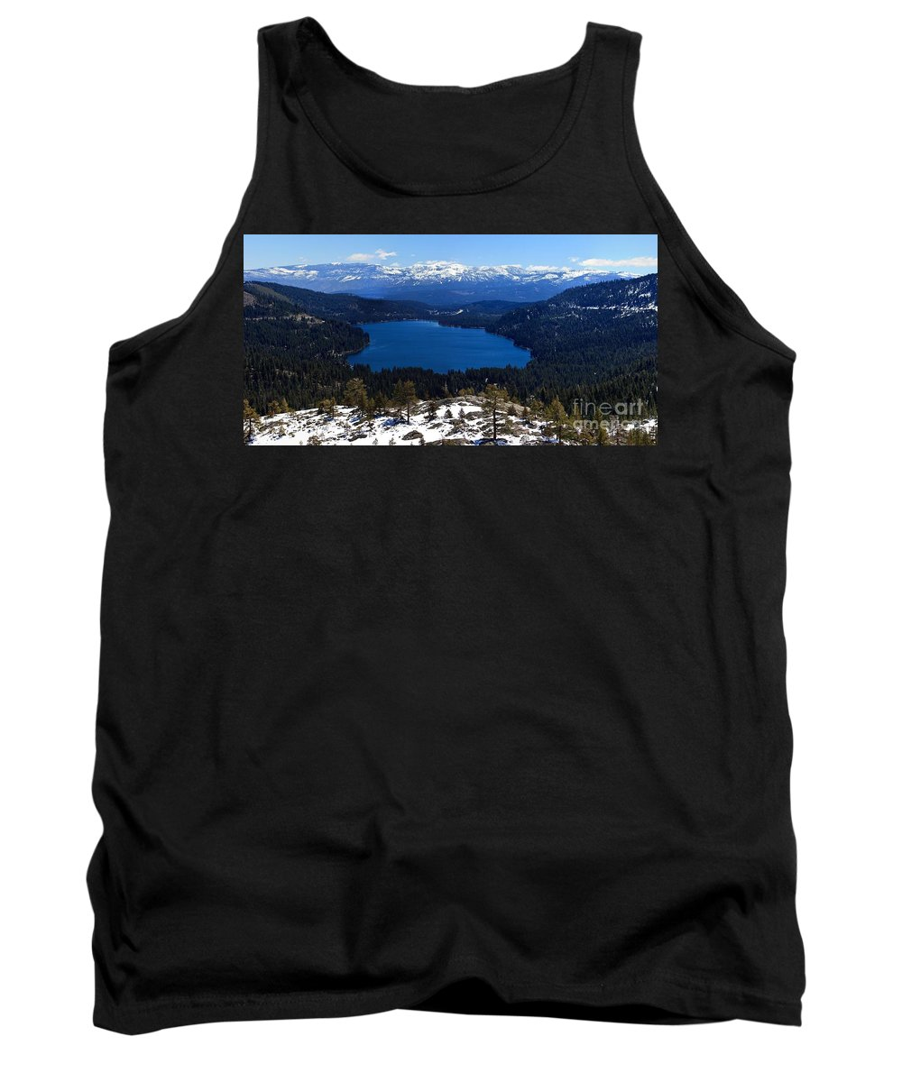 Donner Tank Top featuring the photograph Donner Lake by Thomas Marchessault