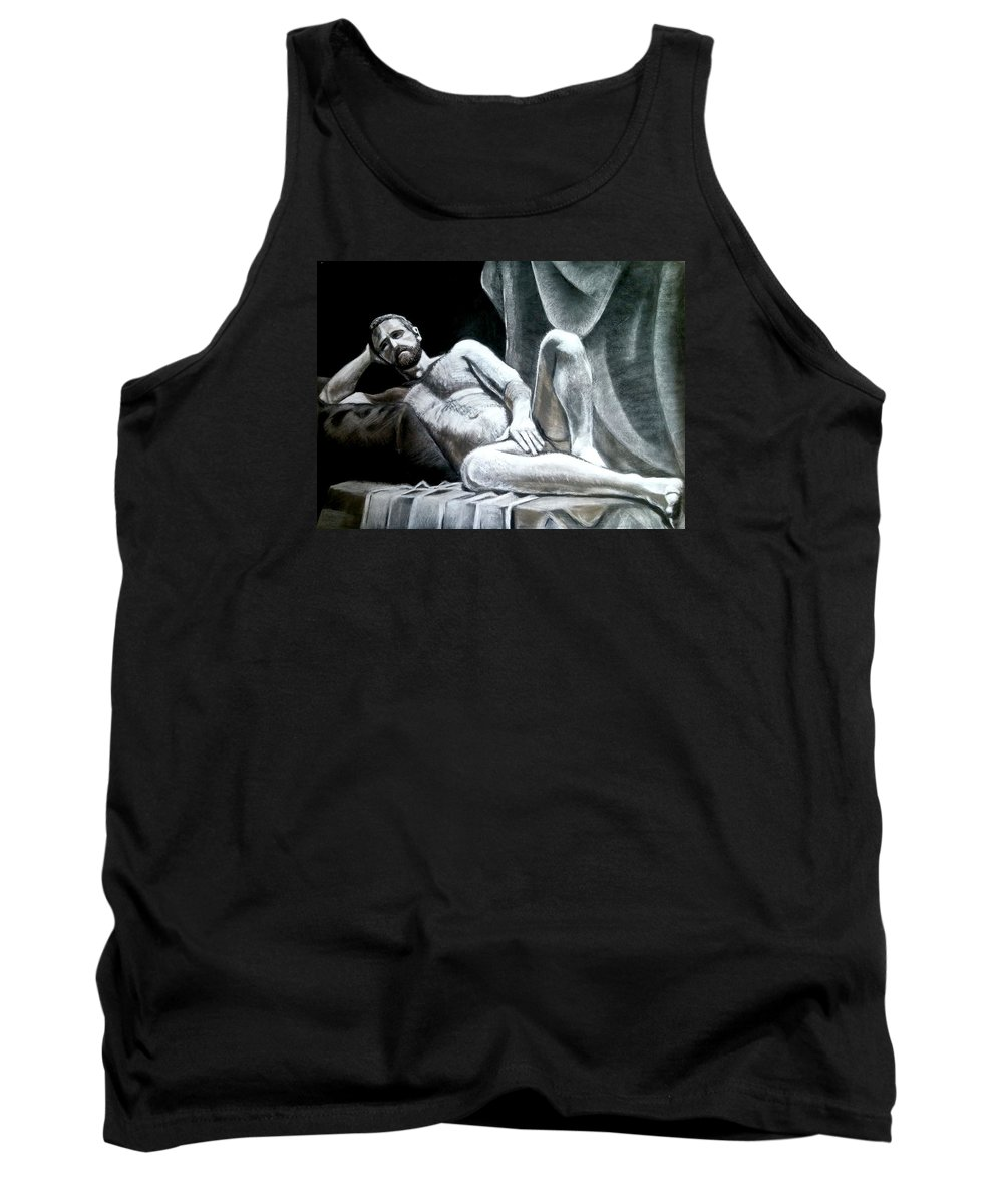 Relax Tank Top featuring the drawing Don't Worry About It by Nils Bifano