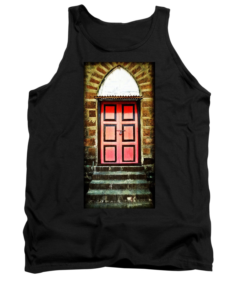 Tank Top featuring the photograph Door by Charuhas Images