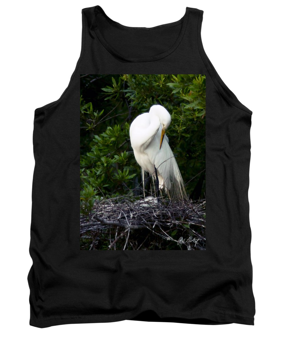 Beaufort County Tank Top featuring the photograph Doting Mother by Phill Doherty