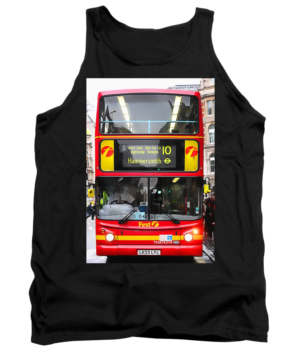London Tank Top featuring the photograph Double Decker by Osvaldo Hamer