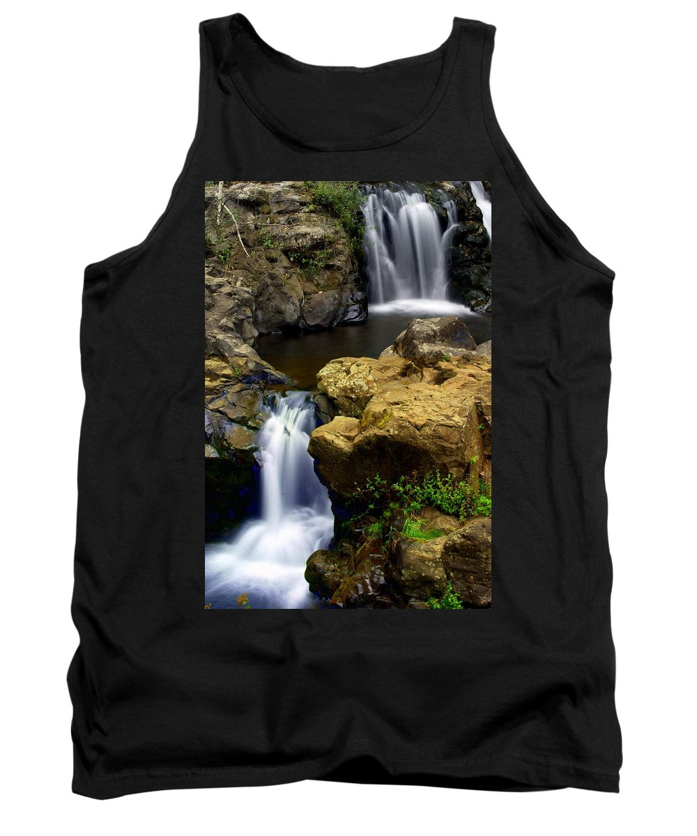 Waterfall Tank Top featuring the photograph Double Drop by Marty Koch
