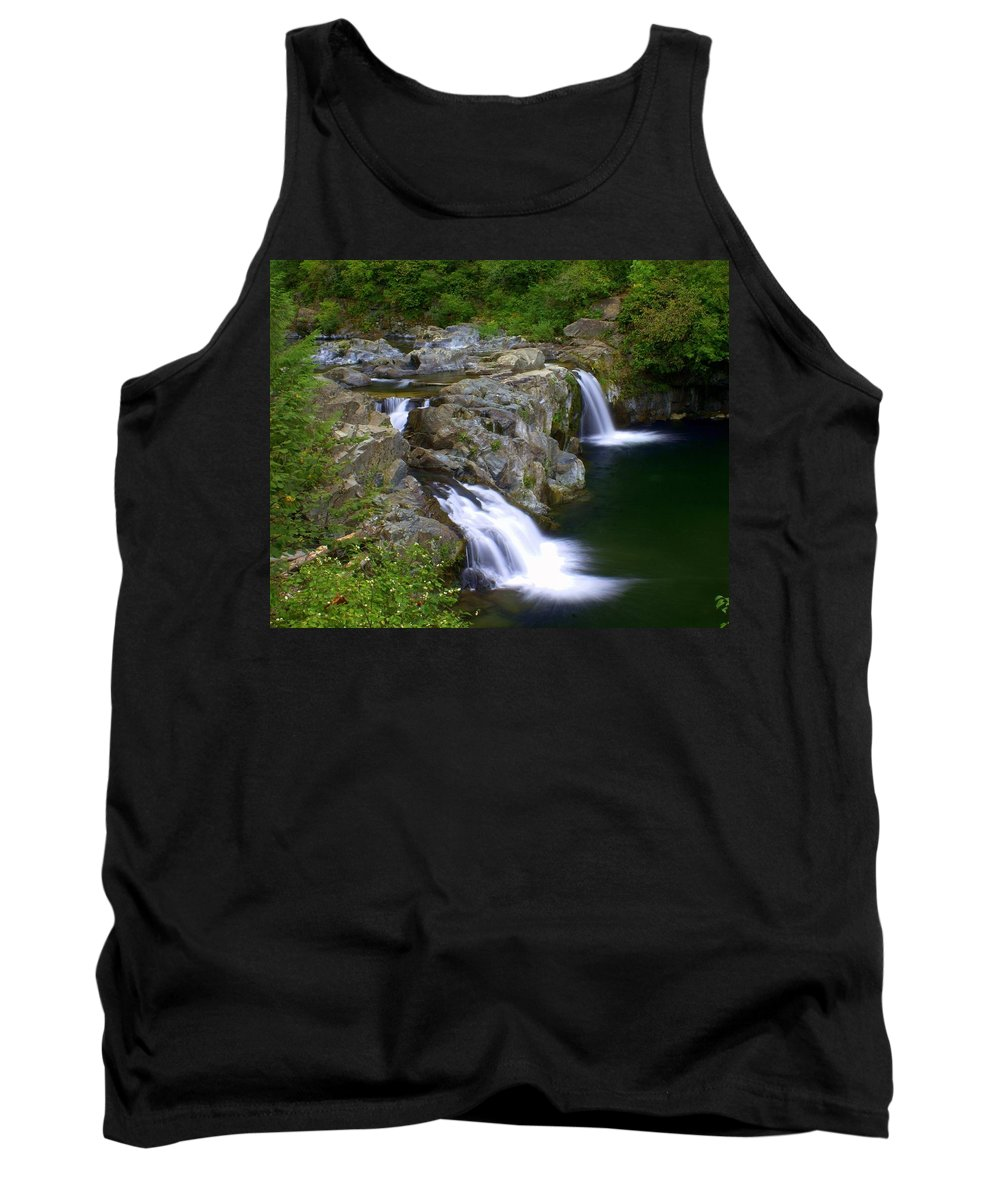 Waterfalls Tank Top featuring the photograph Double Falls by Marty Koch
