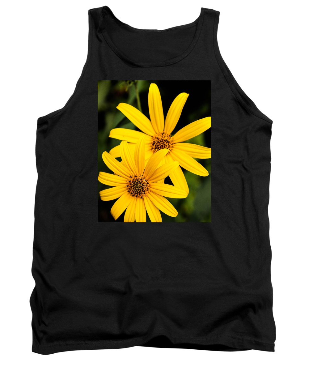 Yellow Tank Top featuring the photograph Double The Yellow by Jessica Fronabarger