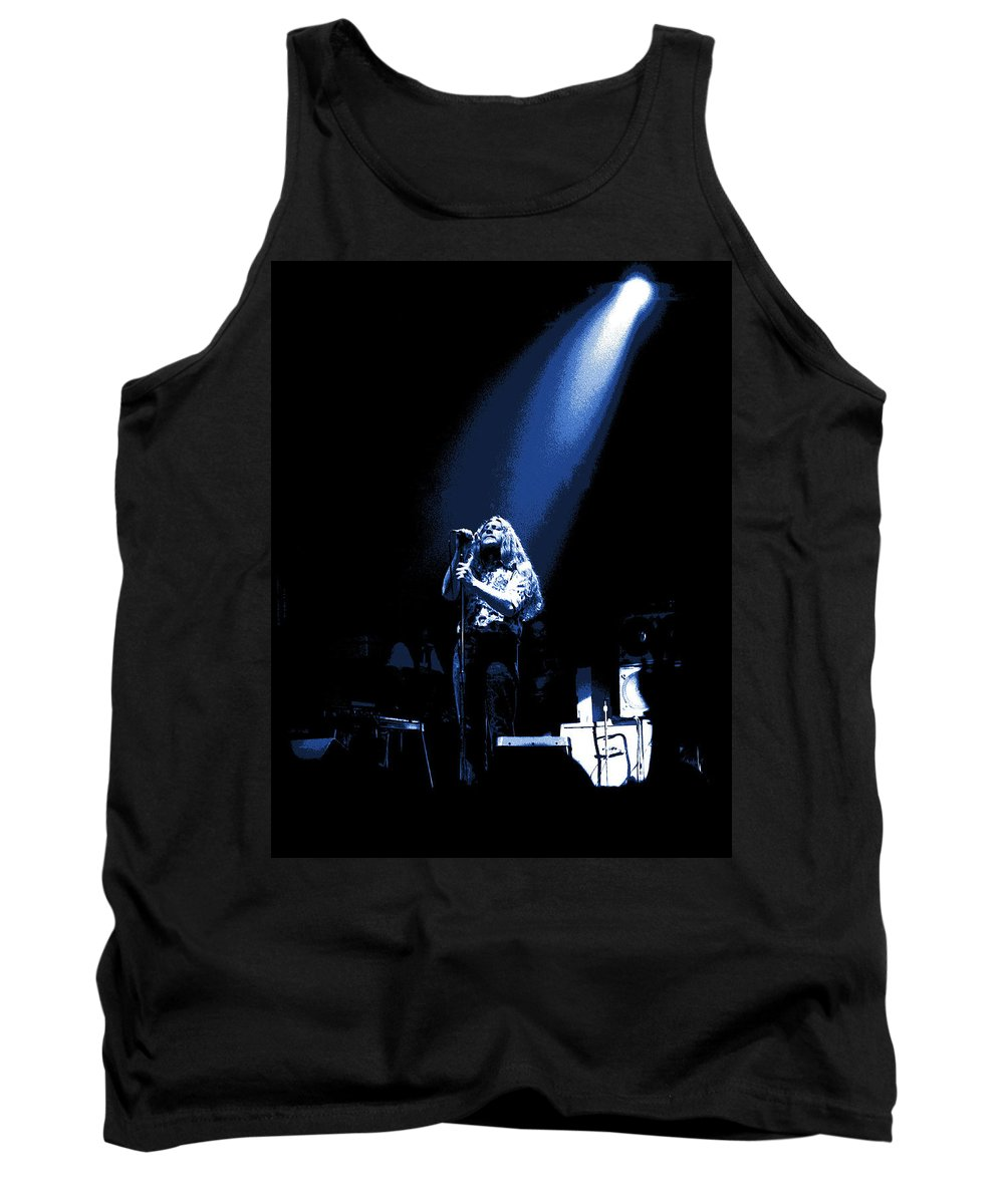 Marshall Tucker Band Tank Top featuring the photograph Doug Gray At Winterland 2 by Ben Upham