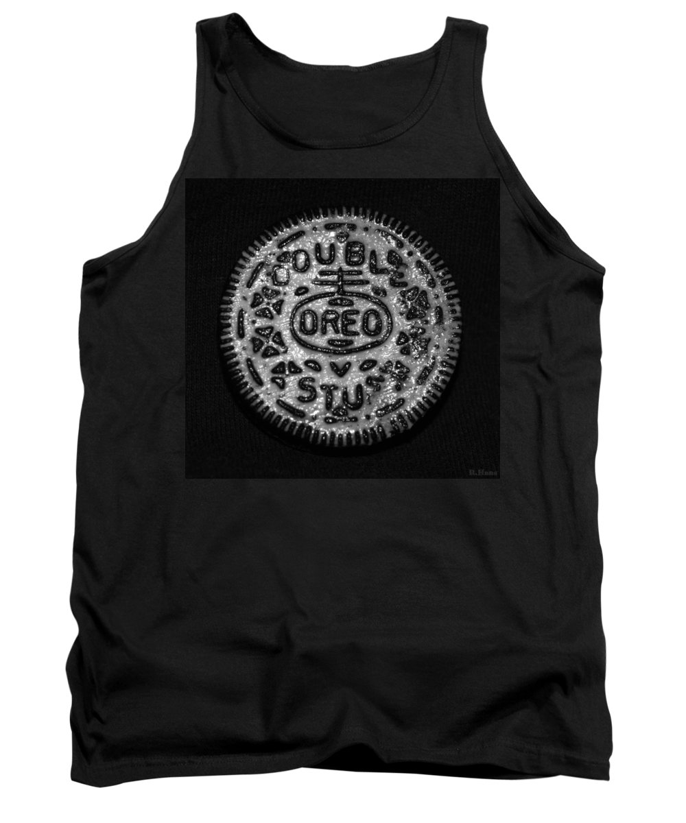 Oreo Tank Top featuring the photograph Doulble Stuff Oreo In Black And White by Rob Hans