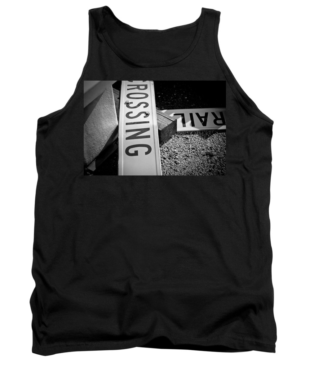 Black And White Photograph Tank Top featuring the photograph Down And Out by Mike Oistad