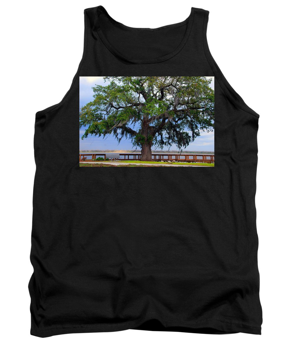 Photography Tank Top featuring the photograph Down By The River Side by Susanne Van Hulst