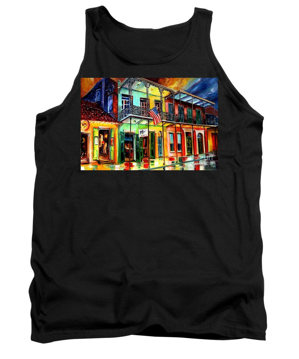 New Orleans Tank Top featuring the painting Down On Bourbon Street by Diane Millsap