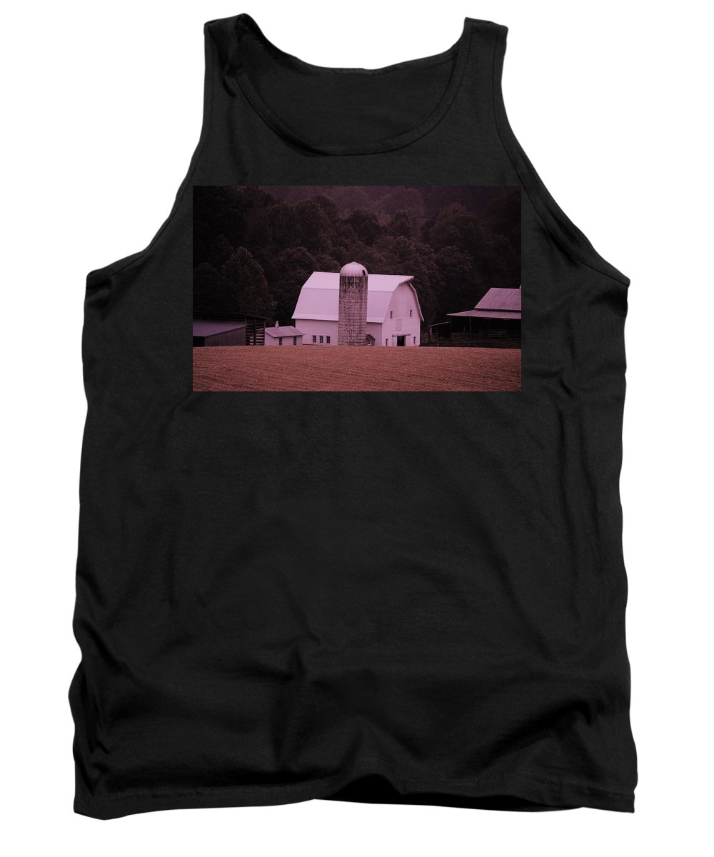 Barn Tank Top featuring the photograph Down On The Farm by Eric Liller