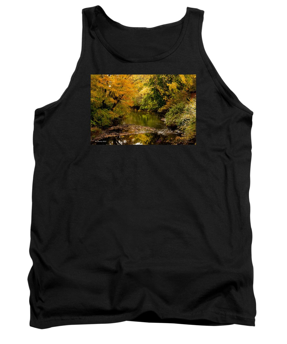 Stream Tank Top featuring the photograph Down Stream by James Holt