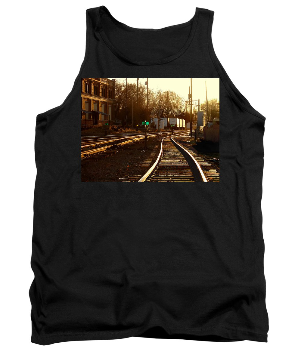 Landscape Tank Top featuring the photograph Down The Right Track 2 by Steve Karol