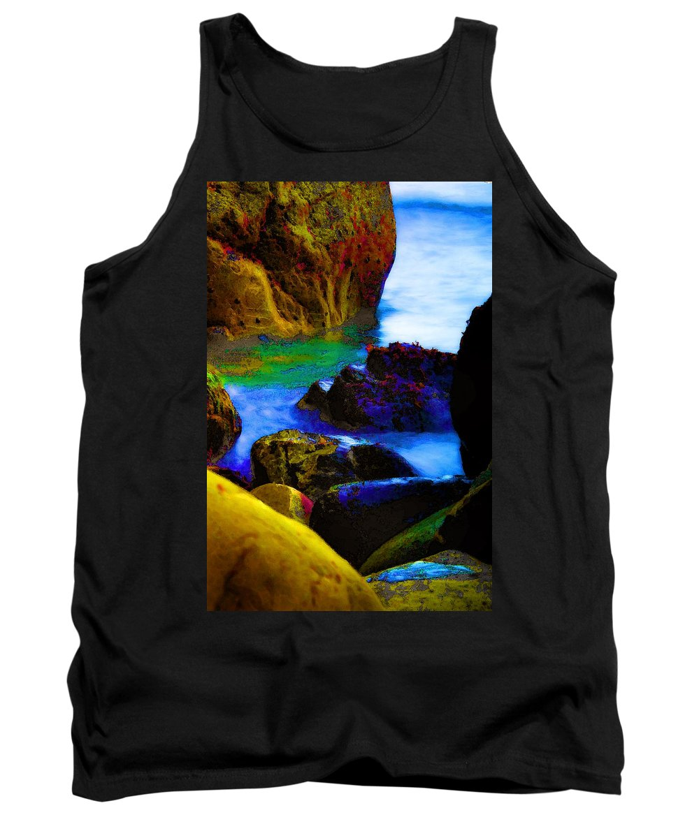 Digital Artwork Tank Top featuring the digital art Down To The Sea by Donna Blackhall