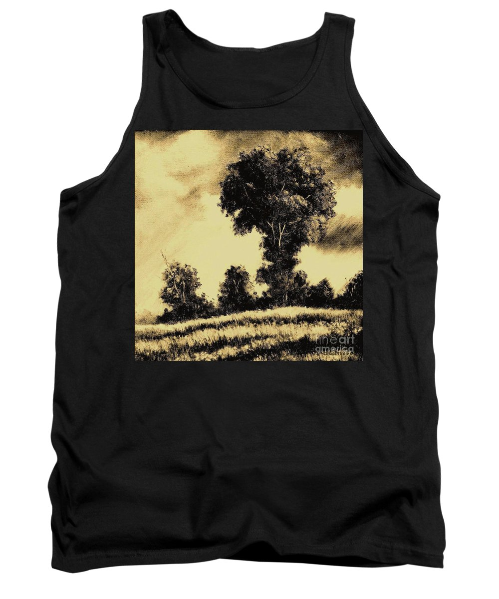 Sunset Tank Top featuring the painting A Spring Shower by Hazel Holland