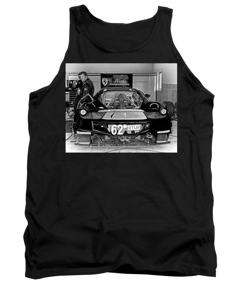 Ferrari Tank Top featuring the photograph Downtime by Alan Raasch