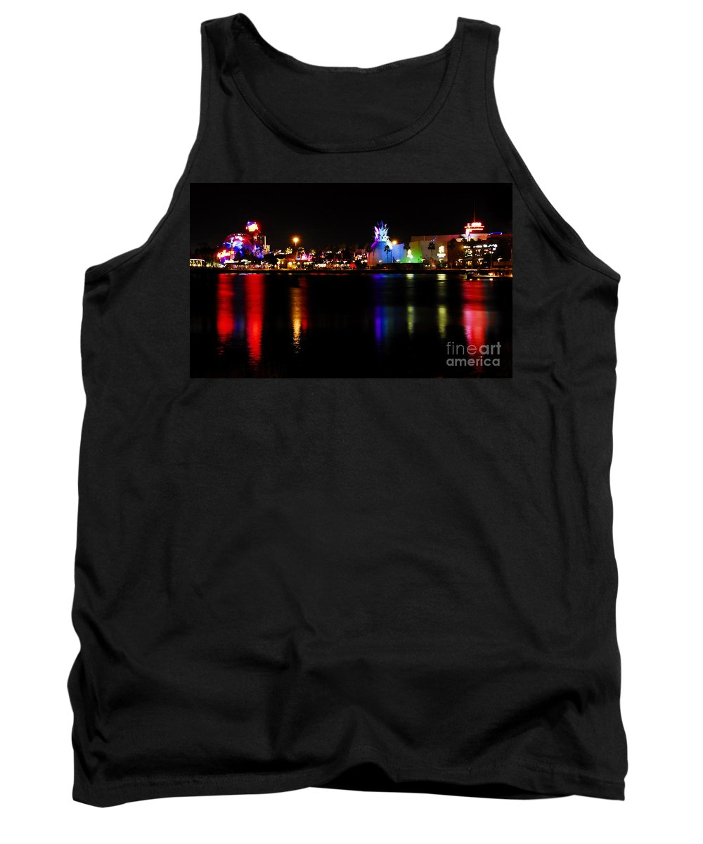 Downtown Disney Tank Top featuring the photograph Downtown Disney by David Lee Thompson