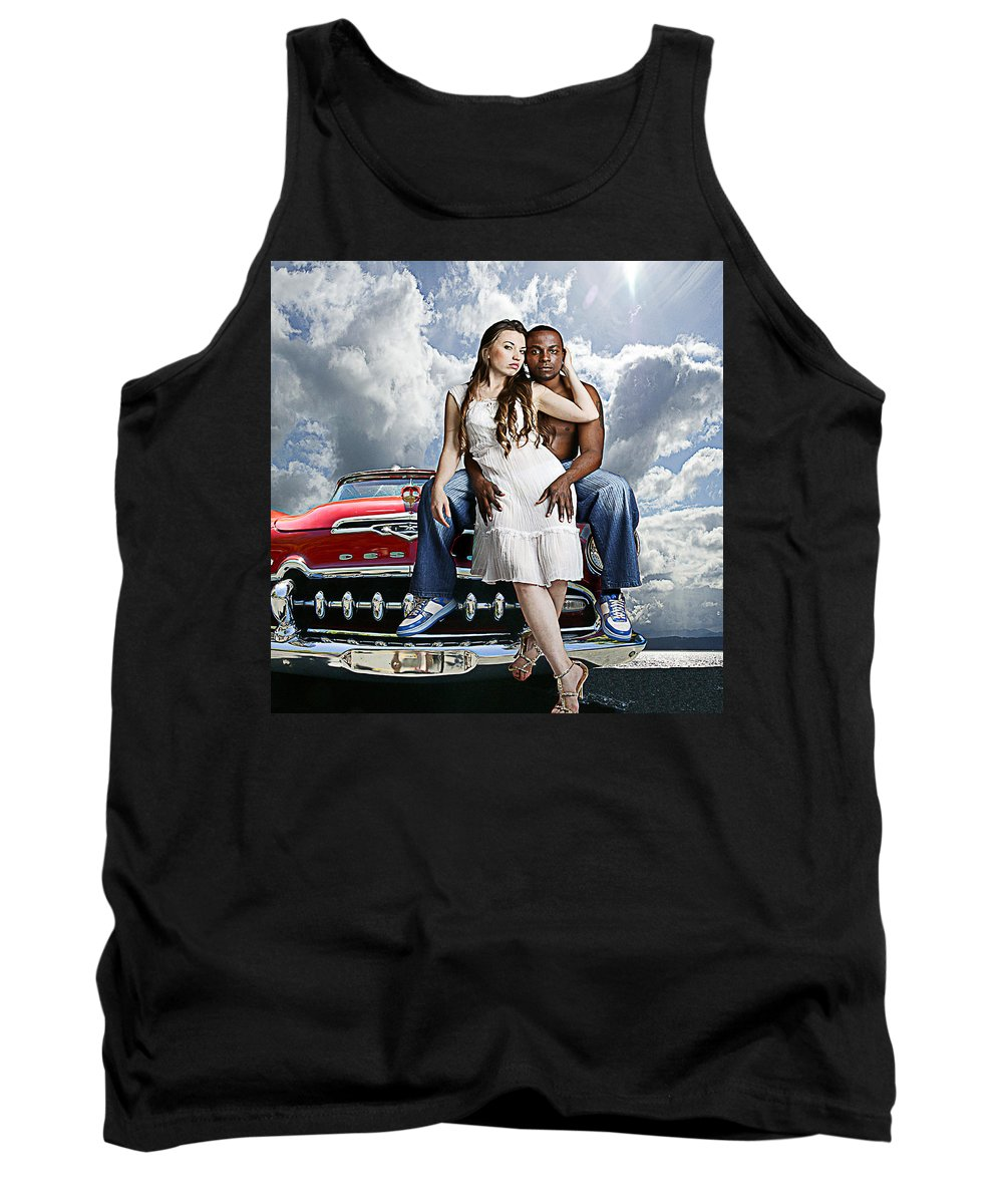 Auto Tank Top featuring the photograph Downtown by Jeff Burgess