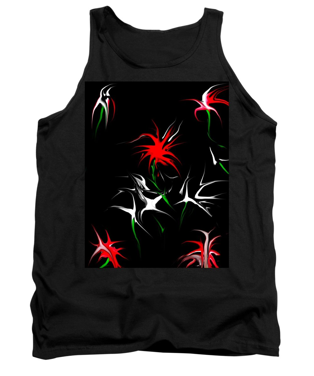 Abstract Tank Top featuring the digital art Dream Garden II by David Lane