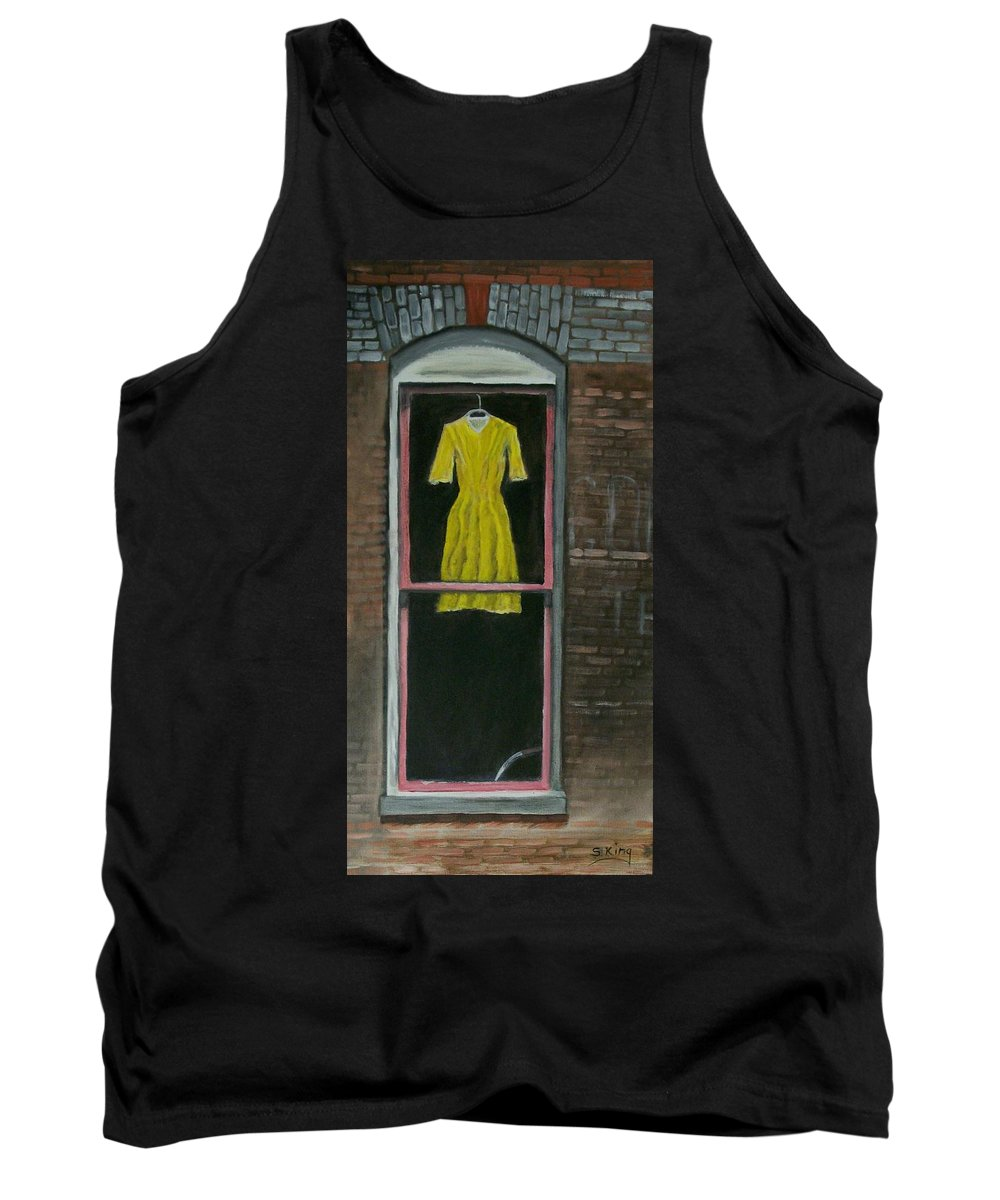 Original Tank Top featuring the painting Dress Up by Stephen King