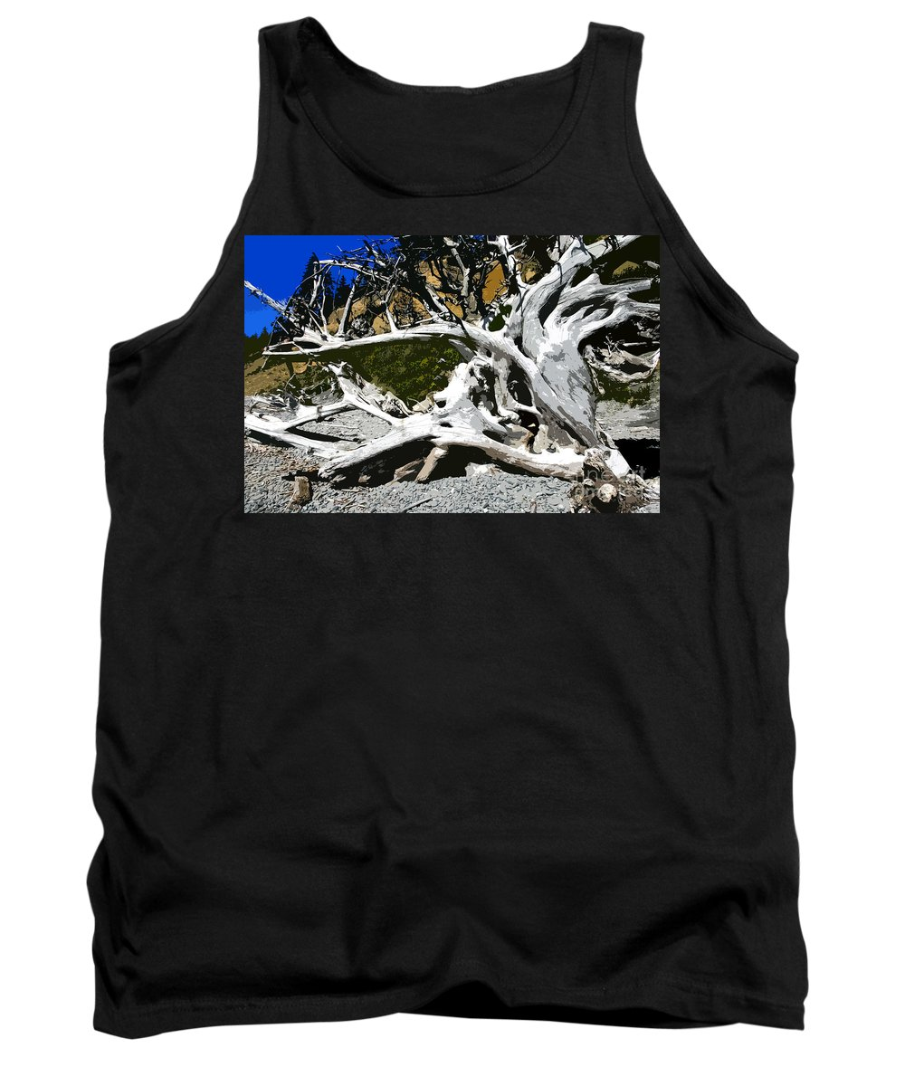 Drift Wood Tank Top featuring the painting Drift Wood by David Lee Thompson
