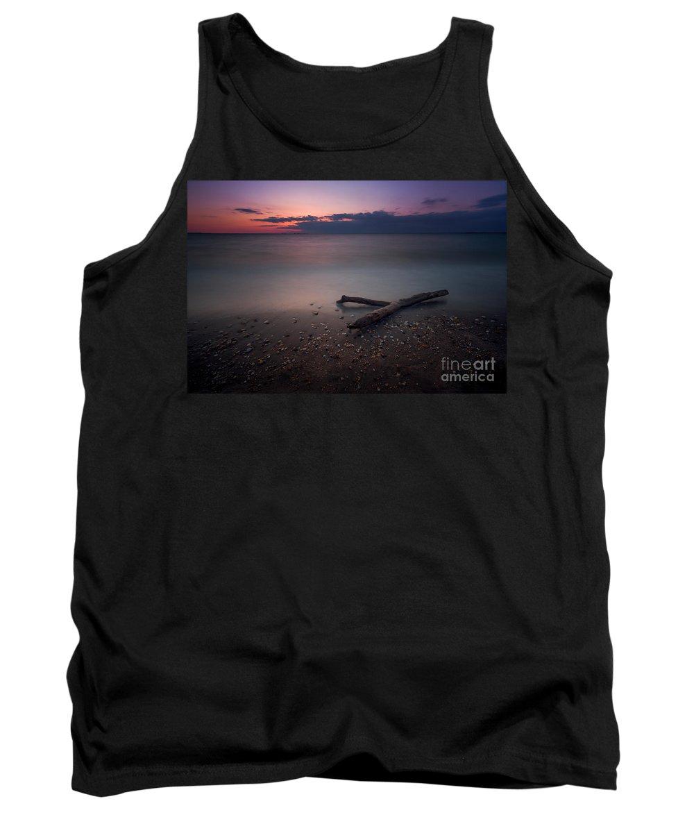 Drift Wood Tank Top featuring the photograph Drift Wood Sunset by Michael Ver Sprill