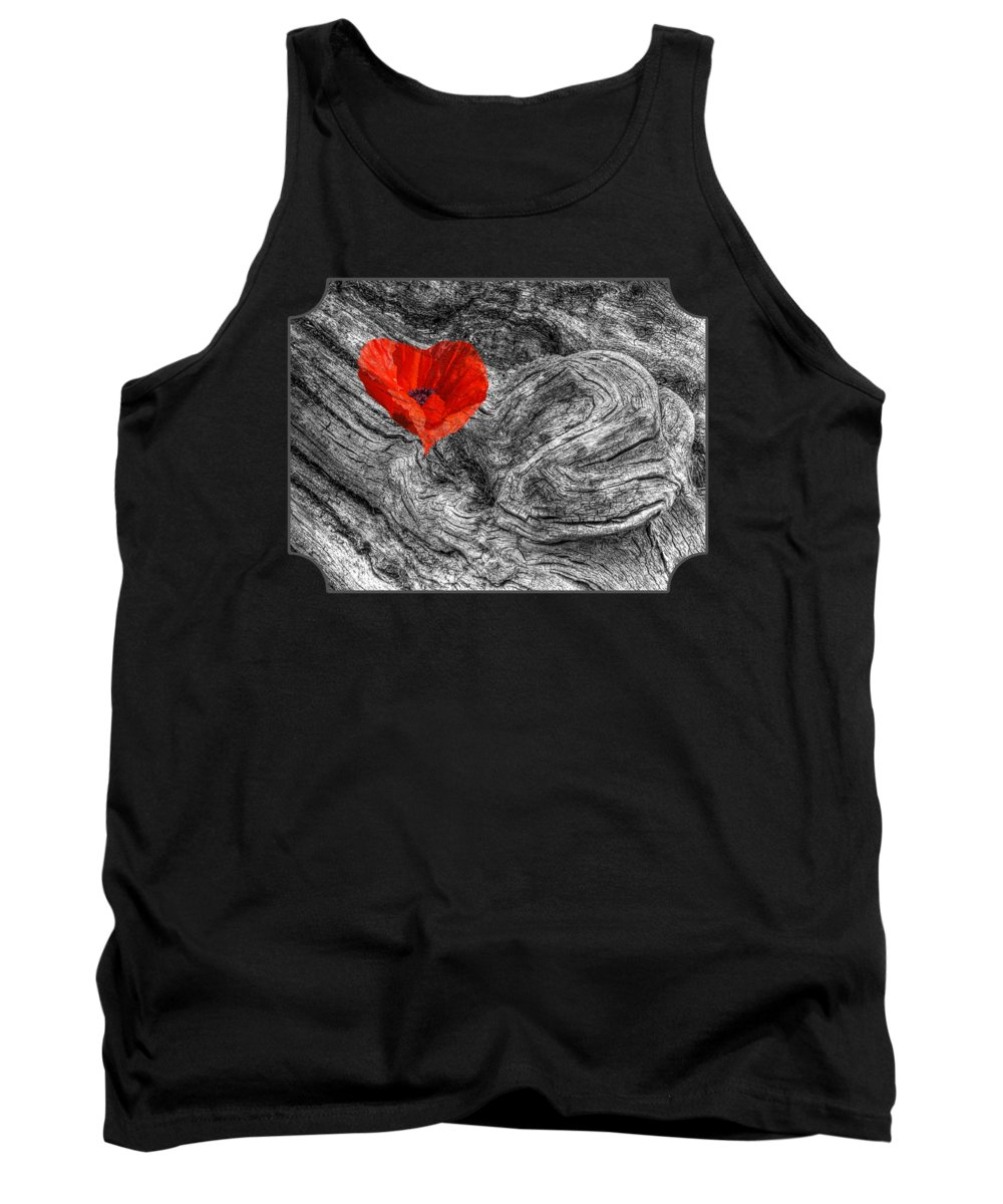 Red Heart Tank Top featuring the photograph Drifting - Love Merging by Gill Billington