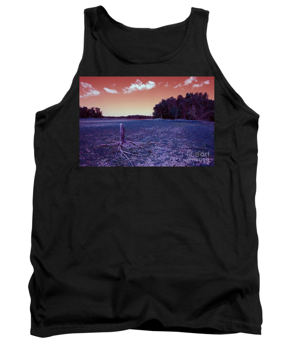 Art Tank Top featuring the photograph Dry Lake Infrared by Alan Look