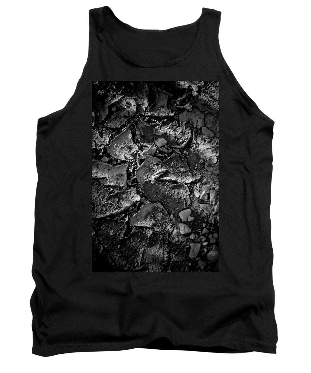 Black And White Photograph Tank Top featuring the photograph Dry Work Yard by Mike Oistad