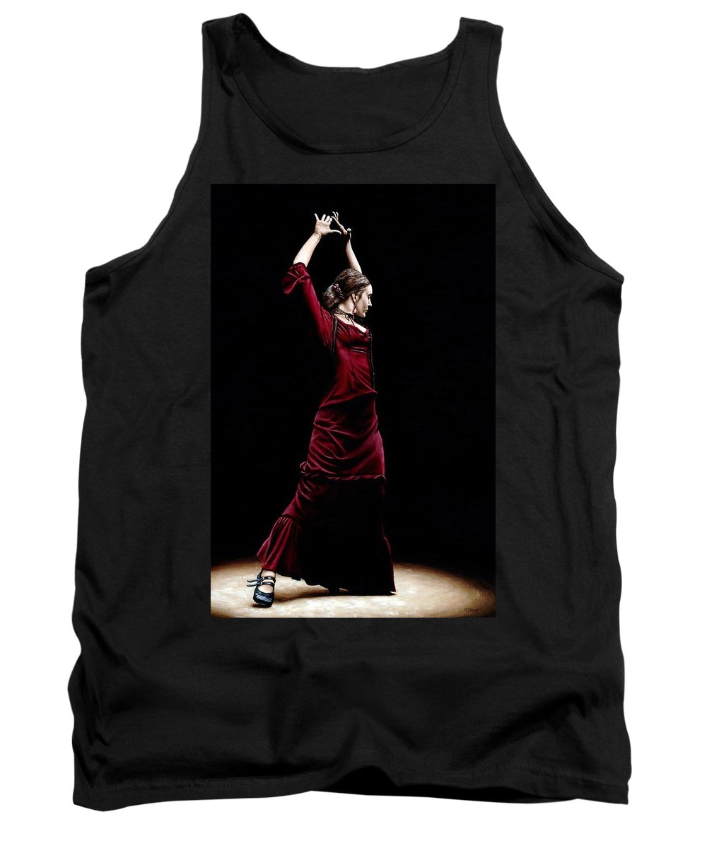 Duende Tank Top featuring the painting Duende by Richard Young