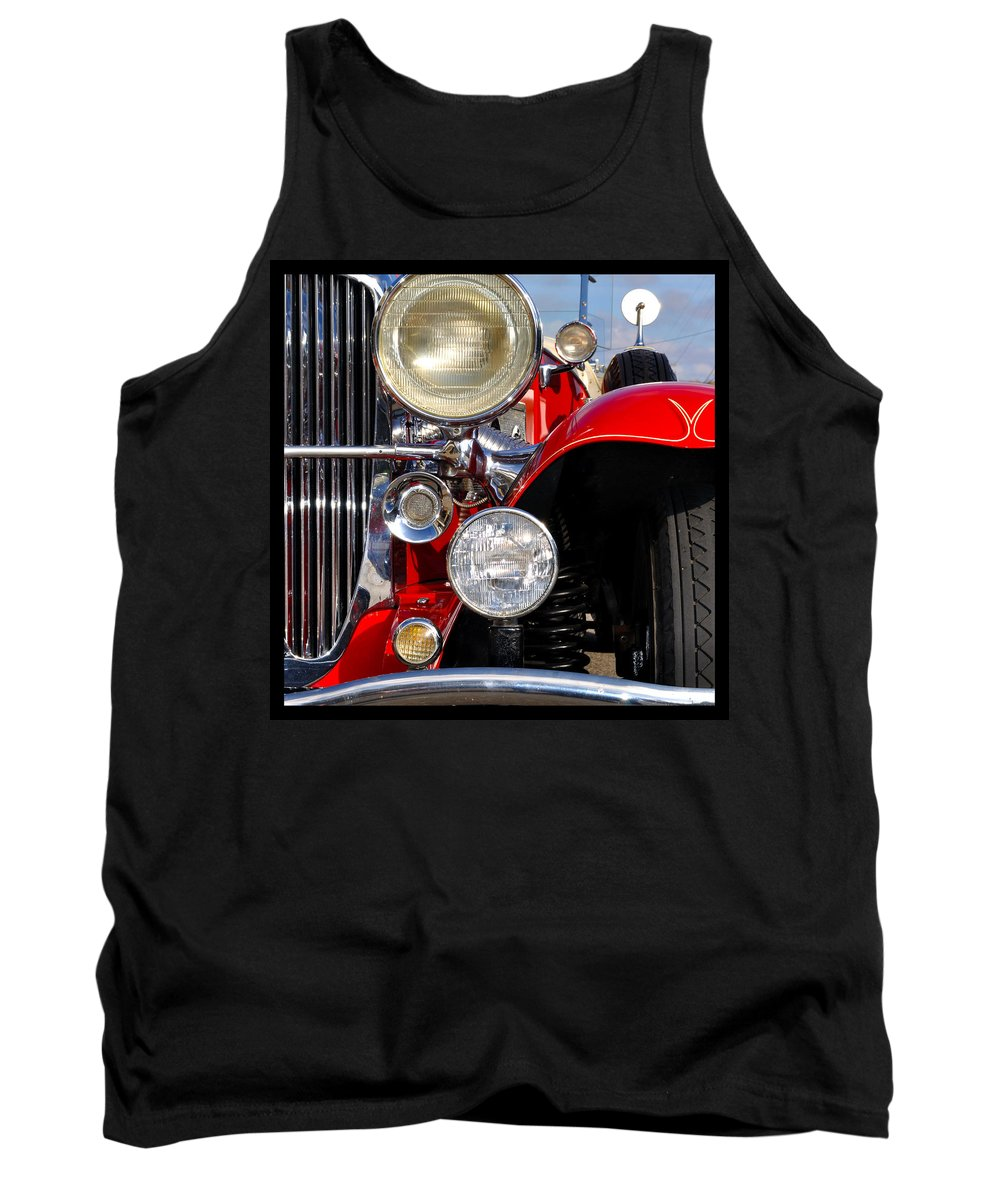 Car Tank Top featuring the photograph Duesenberg by Tim Nyberg