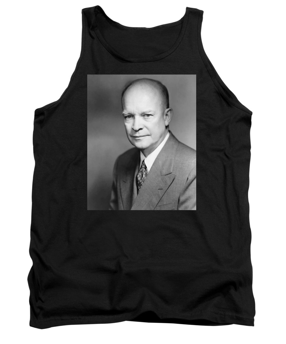 Eisenhower Tank Top featuring the painting Dwight Eisenhower by War Is Hell Store